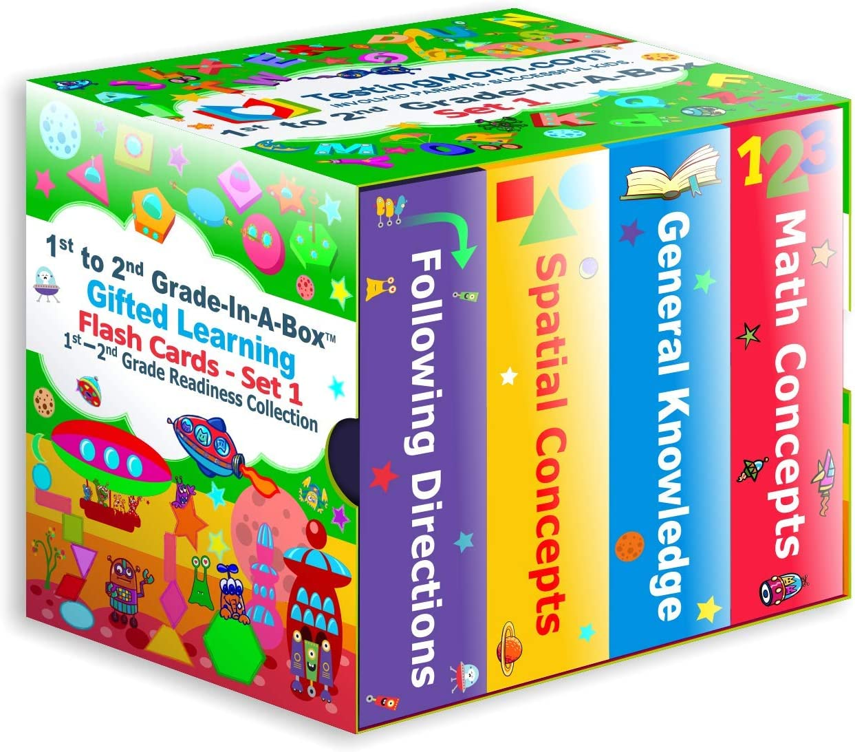 Knowledge NNAT Gifted Learning Flash Cards Bundle Gifted and Talented Test Prep for Grade 1-2 CogAT Following Directions Spatial Concepts TestingMom.com 1st to 2nd Grade-In-A-Box OLSAT Math