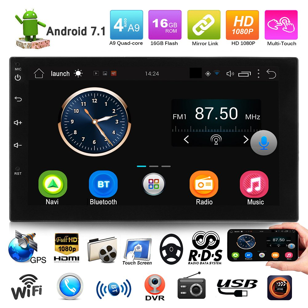 SWM 7in Touch Screen Android Car Stereo with Bluetooth MP5 FM Radio GPS  Navigator 2 Din