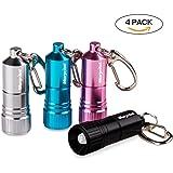 Morpilot 4 Pack Nano LED Key Chain Flashlight LED KeyMate Mini Light,White Light Ideal Christmas Gift for Children