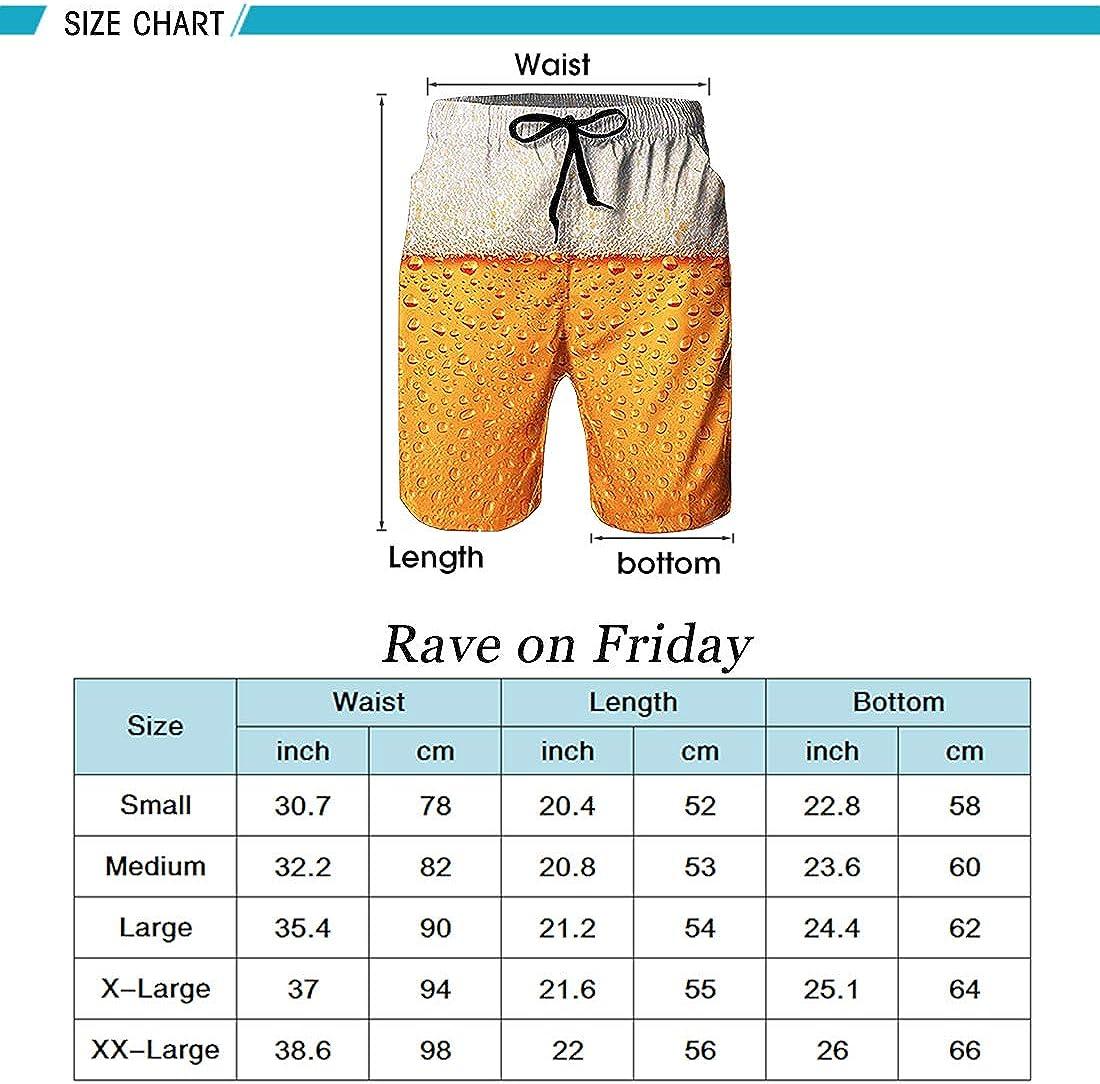 Rave on Friday Pantalones Cortos Playa Hombre 3D Impreso Verano Ba/ñadores Secado R/ápido Pantalon Corto de Deportivos S-XXL
