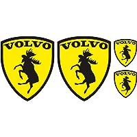 Finest Folia Set van 4 eland-emblemen, stickers voor auto, leuke sticker, autosticker, zelfklevende folie…