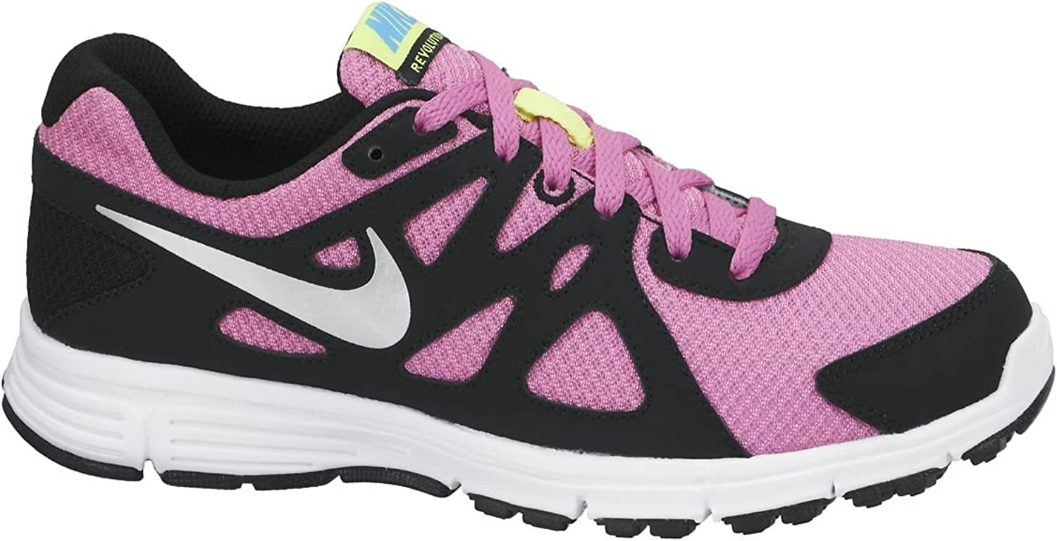 Nike Revolution 2 GS - Zapatillas para Mujer, Color Rosa/Negro/Plata/Blanco, Talla 38.5: Amazon.es: Zapatos y complementos