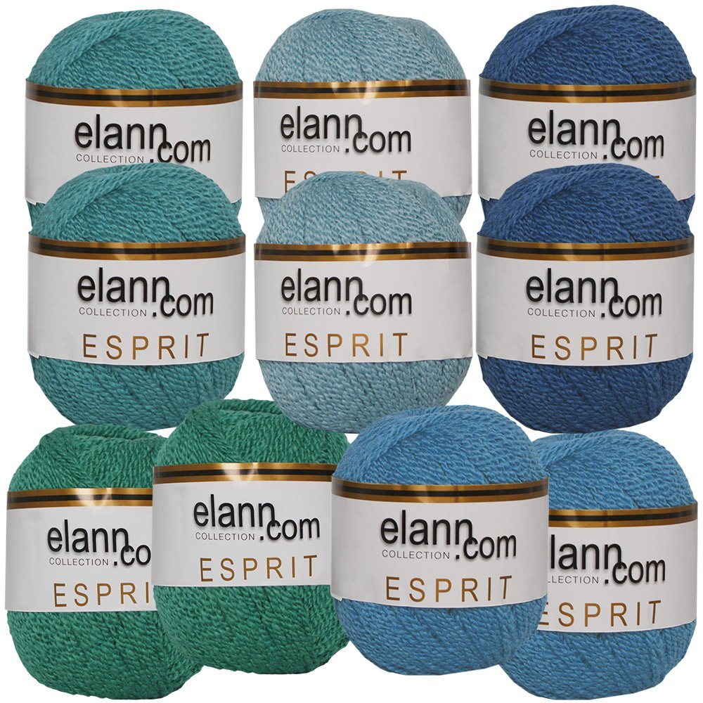 elann Esprit Yarn | 10 Ball Bag | Cool Shades Assortment - 993