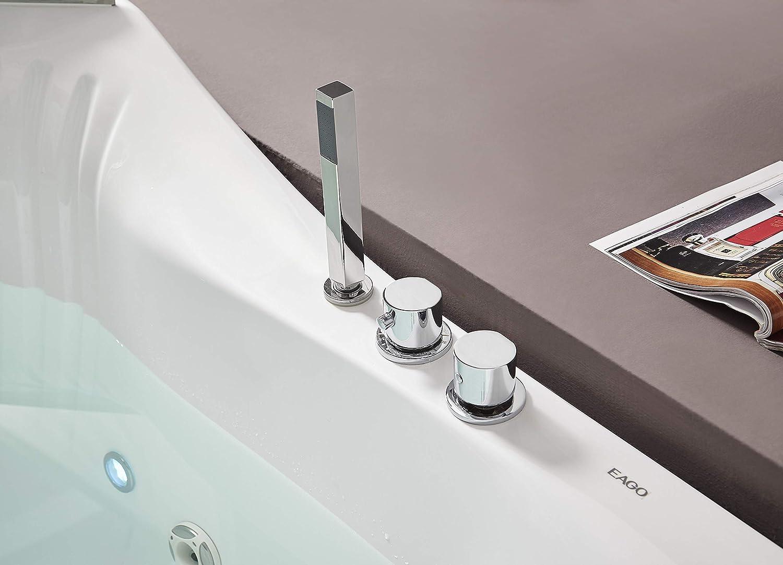 EAGO AM168ETL Whirlpool Tub Color blanco pieza y accesorio de ...