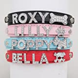 Personalised Dog Puppy Cat Pet NAME Collar(Pink,XS)