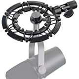 Shure MV7 Shock Mount Reduces Vibration Noise Matching Mic Boom Arm Stand, Compatible for Shure MV7 Mic by YOUSHARES
