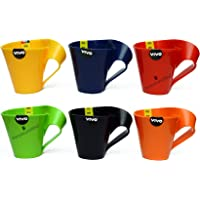 Perpetual Bliss Kids Fashion Plastic Fancy Milk Mugs for Birthday, Medium (Multicolour) - Pack of 12