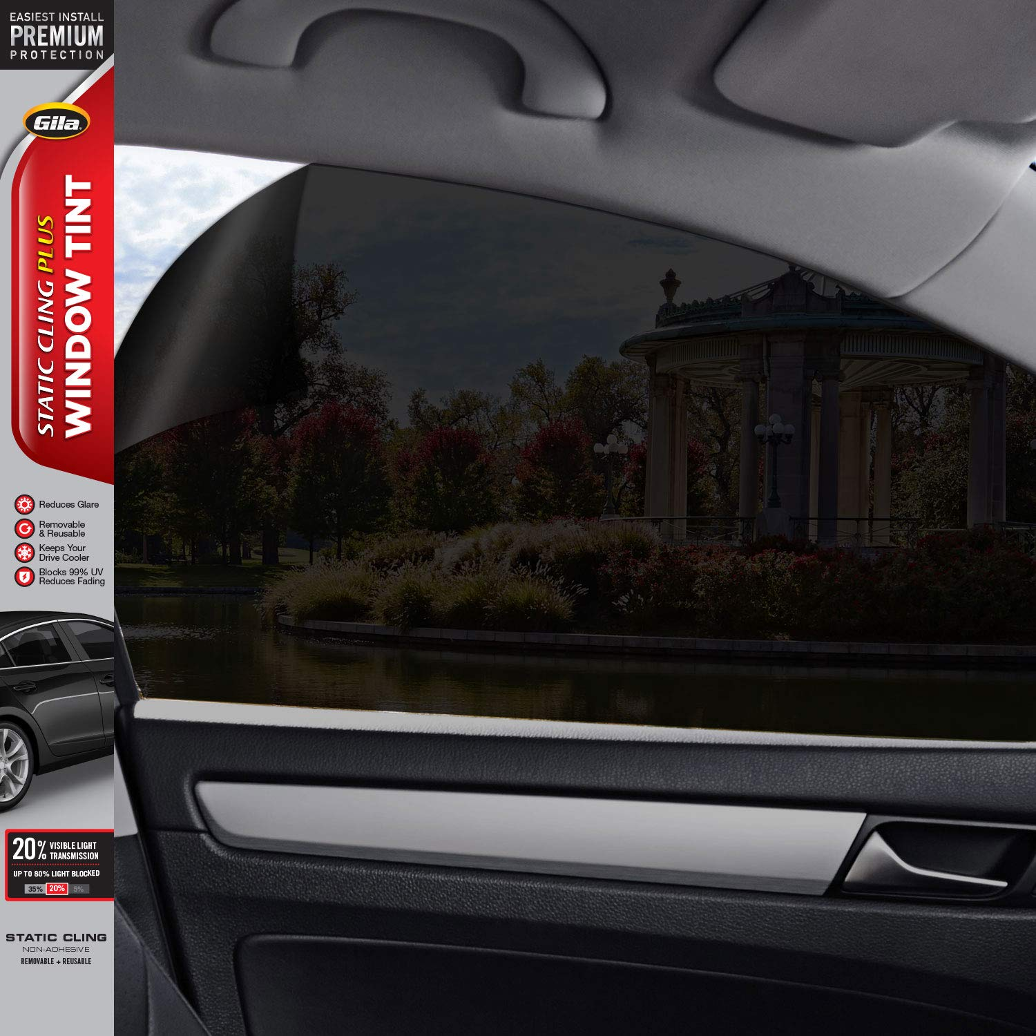 vitihipsy Uncut Roll Window Tint Film 35/% VLT 10ft Feet Car Home Office Glass