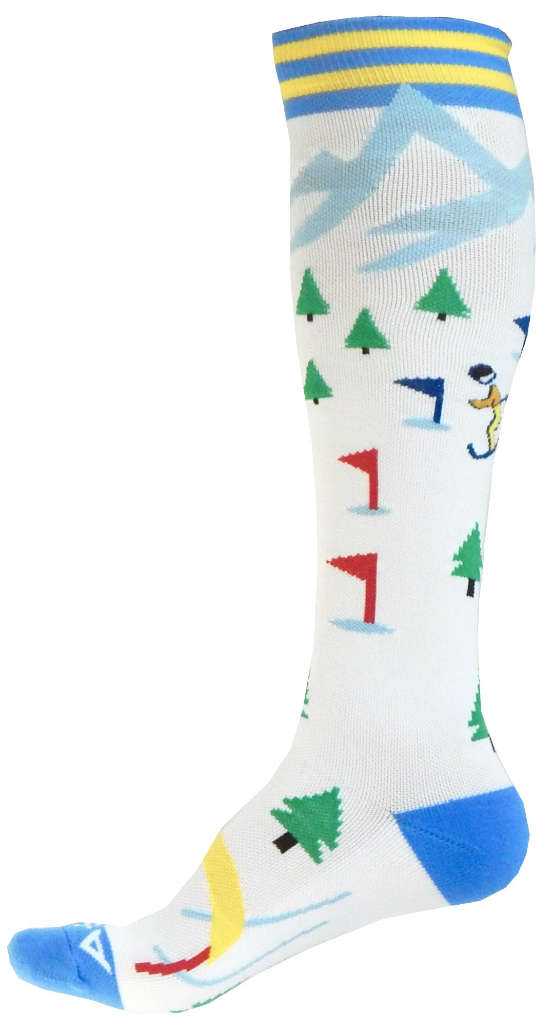 Compression Socks (1 pair) for Women & Men by A-Swift - Graduated Athletic Fit for Running, Nurses, Flight Travel, Skiing & Maternity Pregnancy - Boost Stamina & Recovery (Winter Holiday, L/XL)