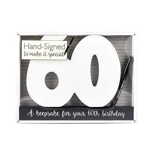 Placa de madera de la firma~feliz cumpleaños 60Th Birthday Gift