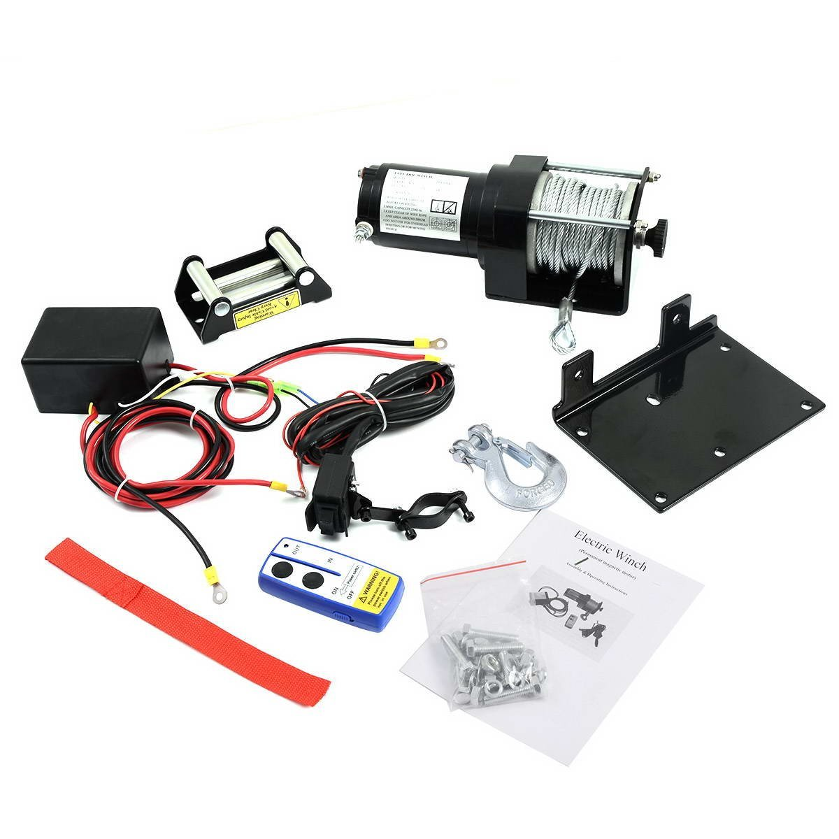 3000lbs Electric Recovery Winch 12V Wireless Remote Control for Car ATV Trailer