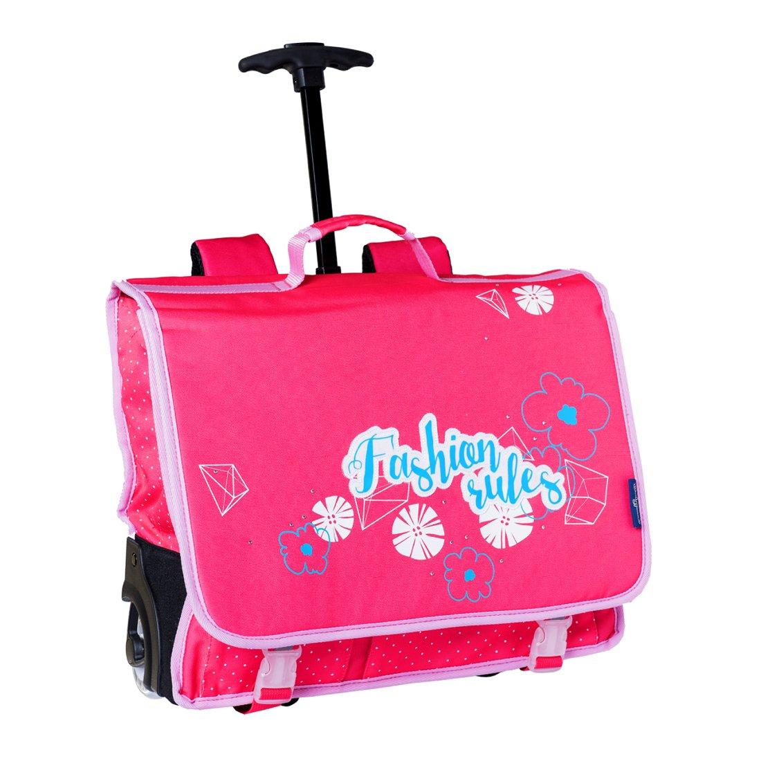 Cartable à roulettes Fille 41 cm Cartable rose Fashion Bodypack 22601