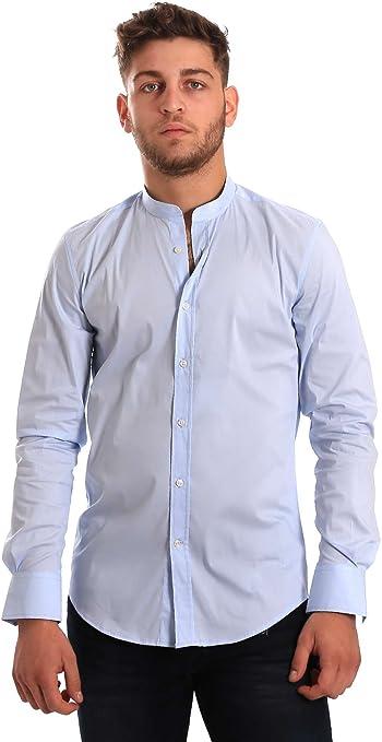 Antony Morato MMSL00376 FA450001 Camisa Hombre Azul 54: Amazon.es: Ropa y accesorios