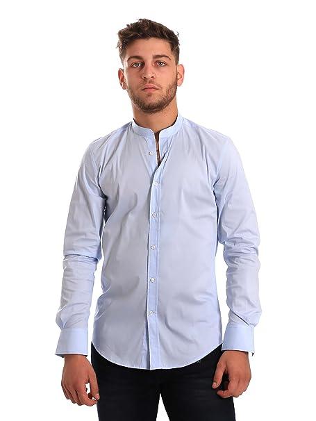 Antony Morato MMSL00376 FA450001 Camisa Hombre Azul 54: Amazon.es ...