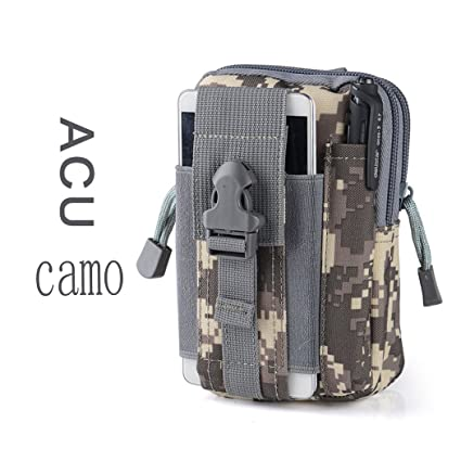 Canvas Outdoor Tactical Wallets, Holster Military Molle Hip Waist Belt Bag Wallet Pouch Purse Phone