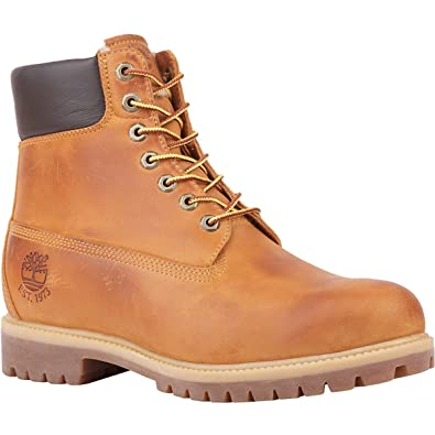 "bec63e79fc Timberland Men's 6"" Premium Waterproof Boot Shearling Lined,Wheat  Nubuck/Fleece,"