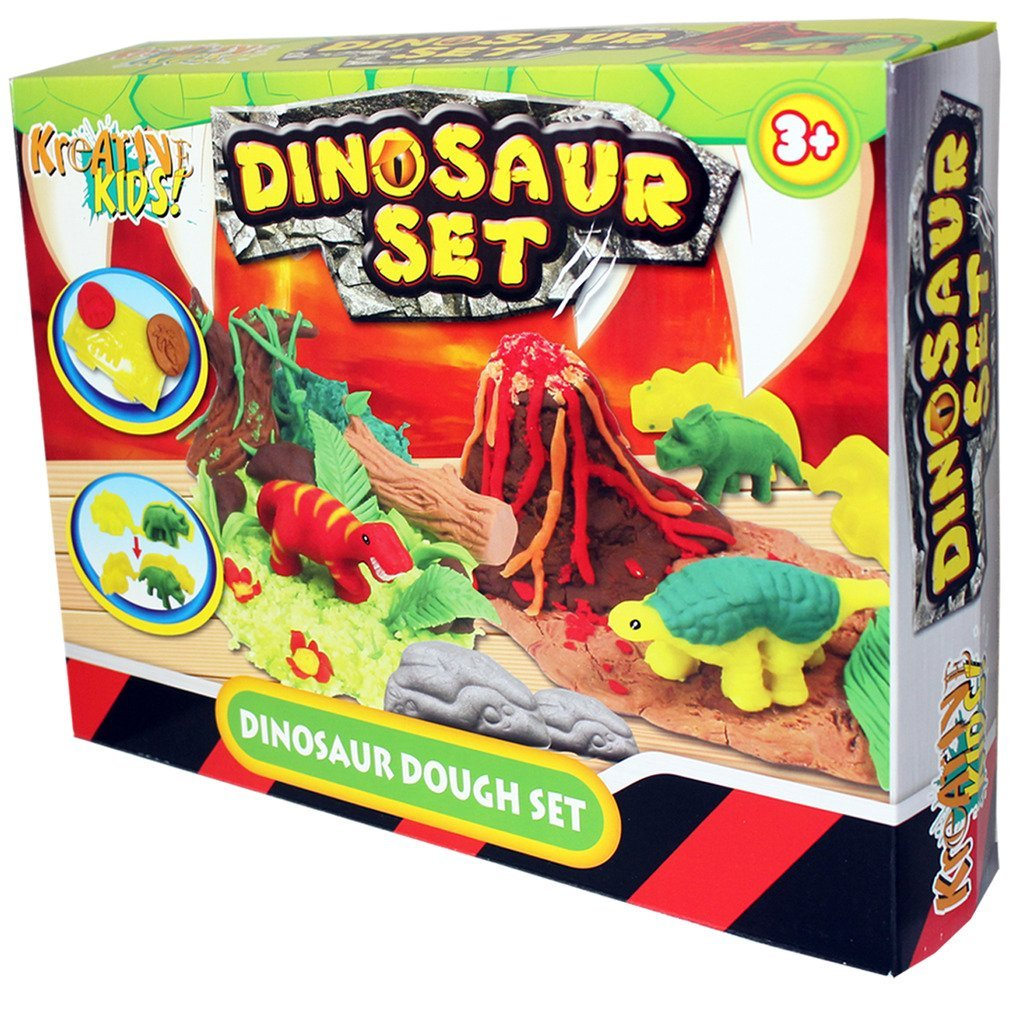 Kids Dough Moulding Modelling Dinosaur Play Set KT TY367