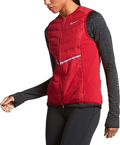 colgar cajón Diacrítico  Amazon.com : Nike DRI-FIT AEROLOFT Vest - Women's (XS, Gym  Red/Anthracite/Reflective Silver) : Clothing
