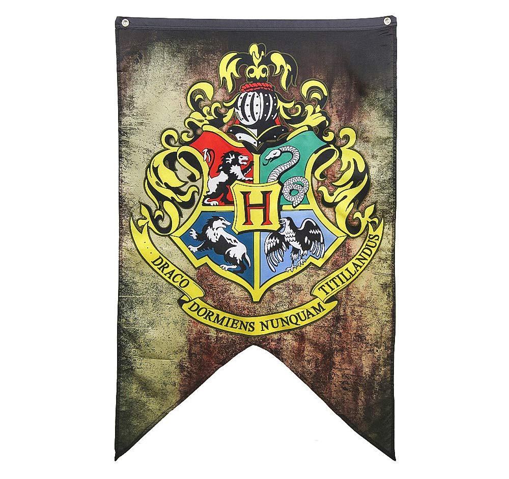 Set di Banner di Harry Potter - Grifondoro Serpeverde Tassorosso Collezione di bandiere di Corvonero huici