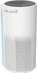 Oblozone Air Purifier Medical Grade H13 True HEPA & Active Carbon Filter, Anti-Allergen, Virus Killer, Germ Guardian, Removes Dust, Pet Dander, Smoke, Odor, 3 speeds, Timing set, Ideal for home (130m³/h)