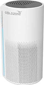 Oblozone Air Purifier Medical Grade H13 True HEPA & Active Carbon Filter, Anti-Allergen, Virus Killer, Germ Guardian, Removes Dust, Pet Dander, Smoke, Odor, 3 speeds, Timing set, Ideal for home (130m³/h)