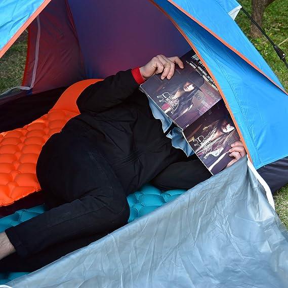 Amazon.com: Almohadilla de dormir autoinflable Mozing para ...