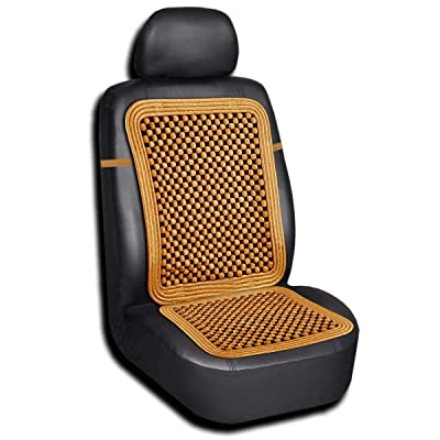 Zento Deals Natural-Wood Beaded Cushion with high Ventilation: Automotive