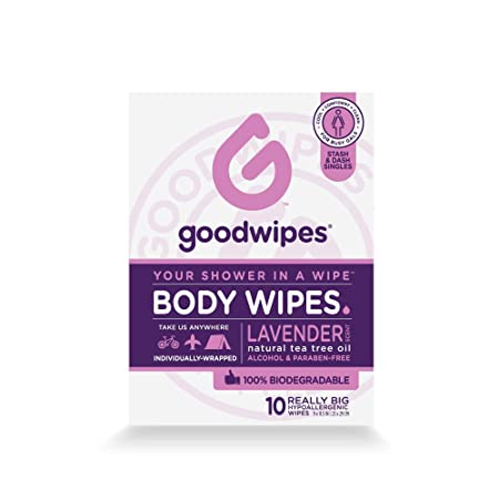 Goodwipes Really Big Body Wipes, Lavender Scent