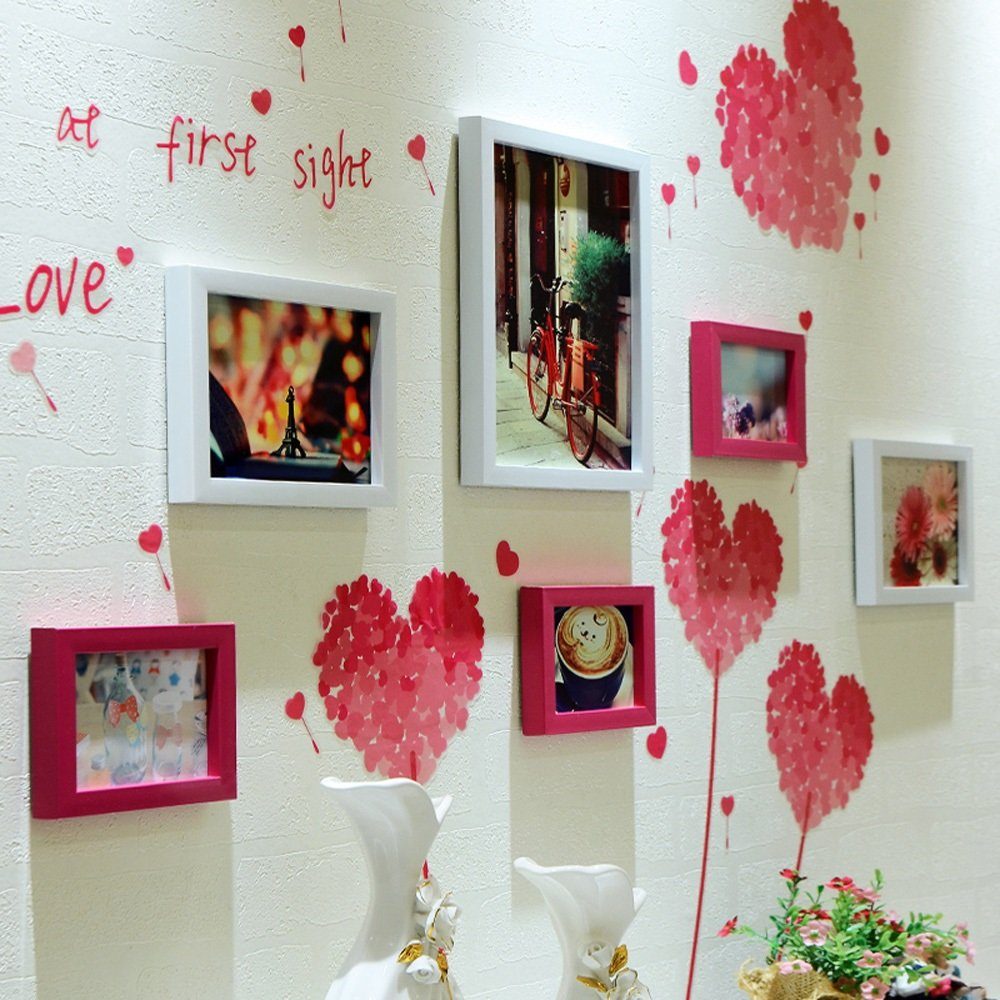 Photo Wall, Picture Frame Wall, Photo Wall Combination, Simple Modern Frame Photo Wall, Living Room Creative Background Wall Photo Wall ( Color : 3# )