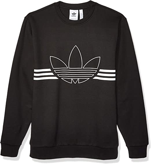 adidas Originals Men's Outline Fleece Crewneck Sweatshirt