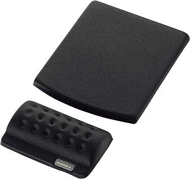 ELECOM Wrist Rest Comfy Short Type//Memory Foam//Ergonomic Design//Reduce Wrist Fatigue//Black MOH-013BK