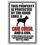 "0373 Cane Corso 9/""x12/"" Aluminum Sign"