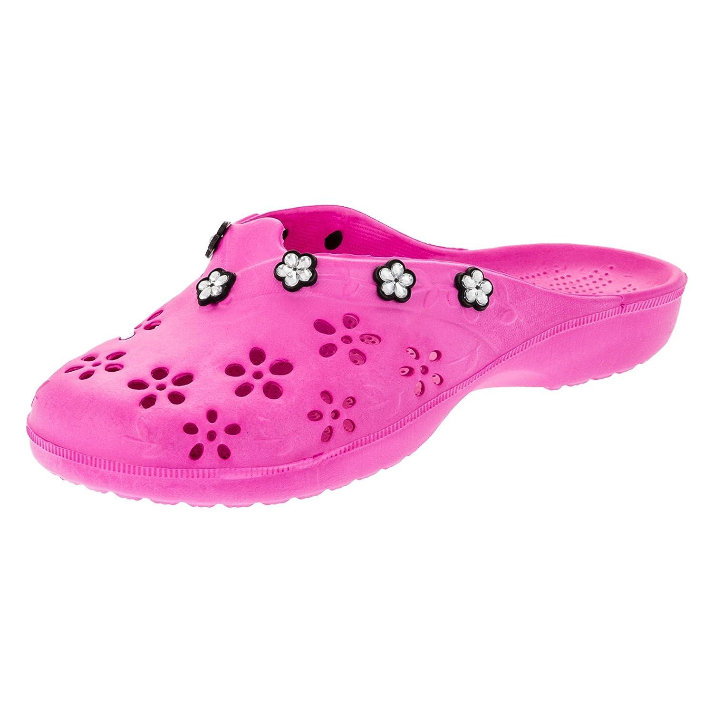 2Surf Damen Pantoletten Sandalen Latschen Strand Clogs Pantoffel in Vielen Farben. M315pi Pink Gr.36 eGaADq