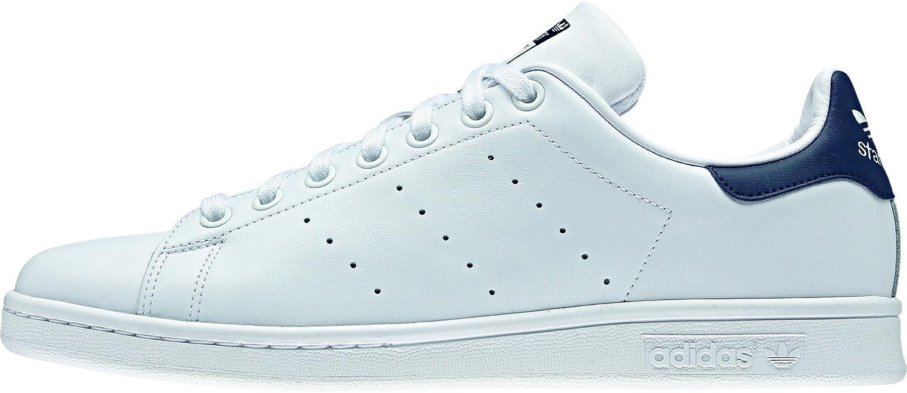 Adidas Originals Stan Smith, Zapatillas de Deporte Unisex Adulto, Blanco (Running White/New Navy), 41 1/3 EU: adidas Originals: Amazon.es: Deportes y aire libre