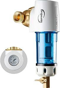 iSpring WSP50GR - Reusable Spin Down Sediment Water Filter (50 Micron w/Scraper & 360°Head)