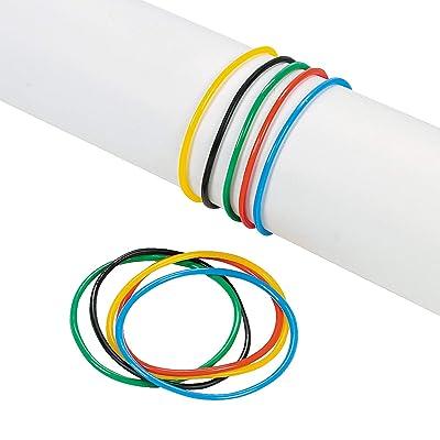 Fun Express - Int'l Games Color Vinyl Jelly Bracelets - Jewelry - Bracelets - Novelty Bracelets - 144 Pieces: Toys & Games