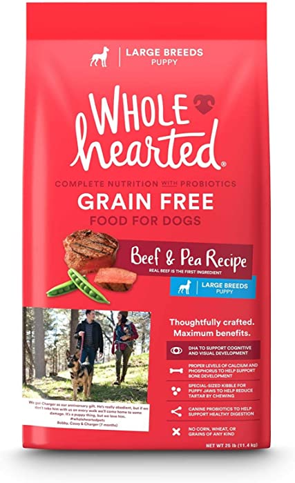 WholeHearted Large Breed Beef & Pea Recipe Dry Puppy Food, 25 lbs.