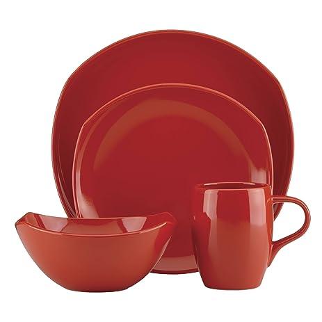 Dansk Unisex Classic Fjord Chili Red 4 Piece Set Red Dinnerware  sc 1 st  Amazon.com & Amazon.com | Dansk Unisex Classic Fjord Chili Red 4 Piece Set Red ...