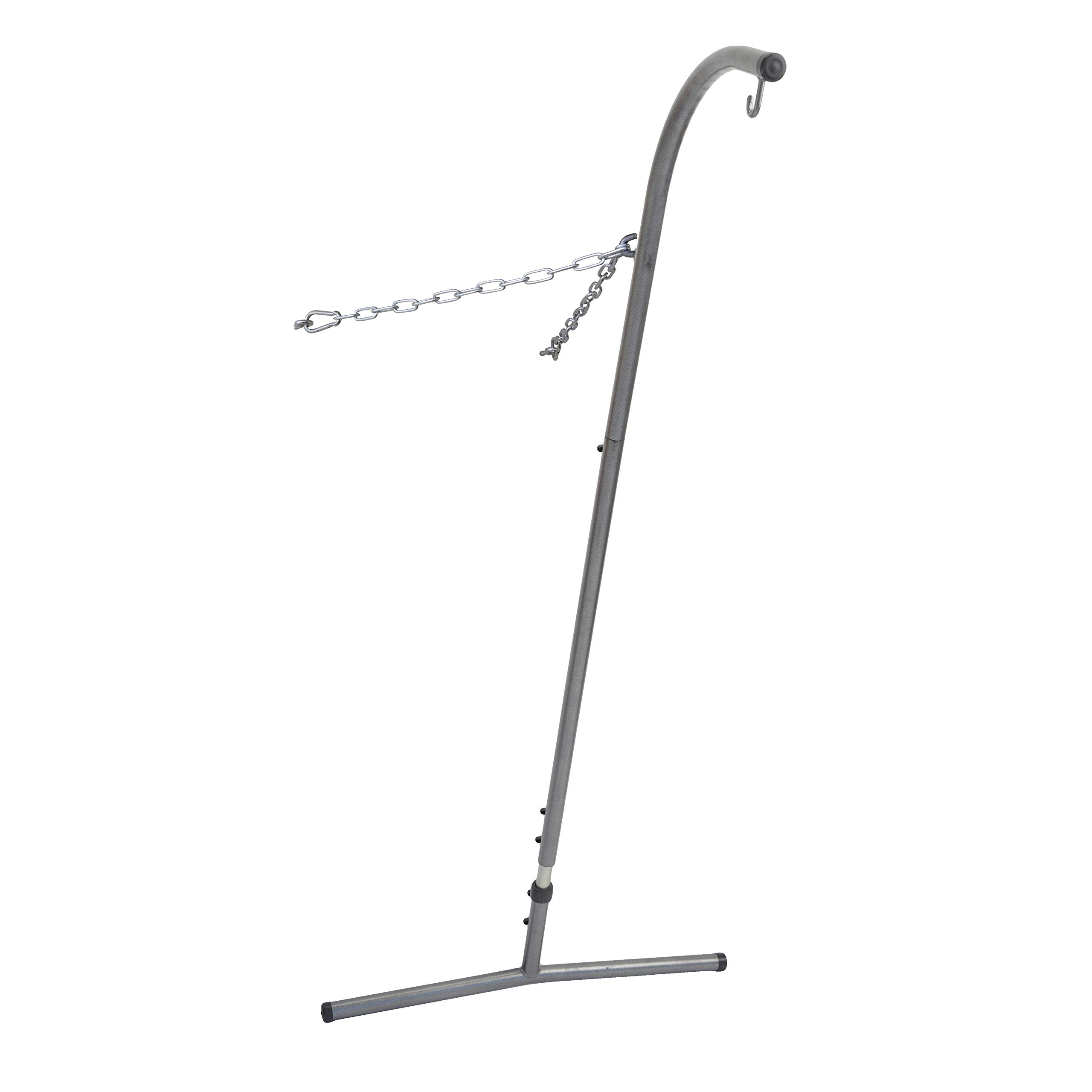 BYER OF MAINE Palmera Hanging/Hammock Chair Stand, Steel Construction, Space Saver, Indoors and Outdoors, Adjustable Height, Holds Up to 240lbs