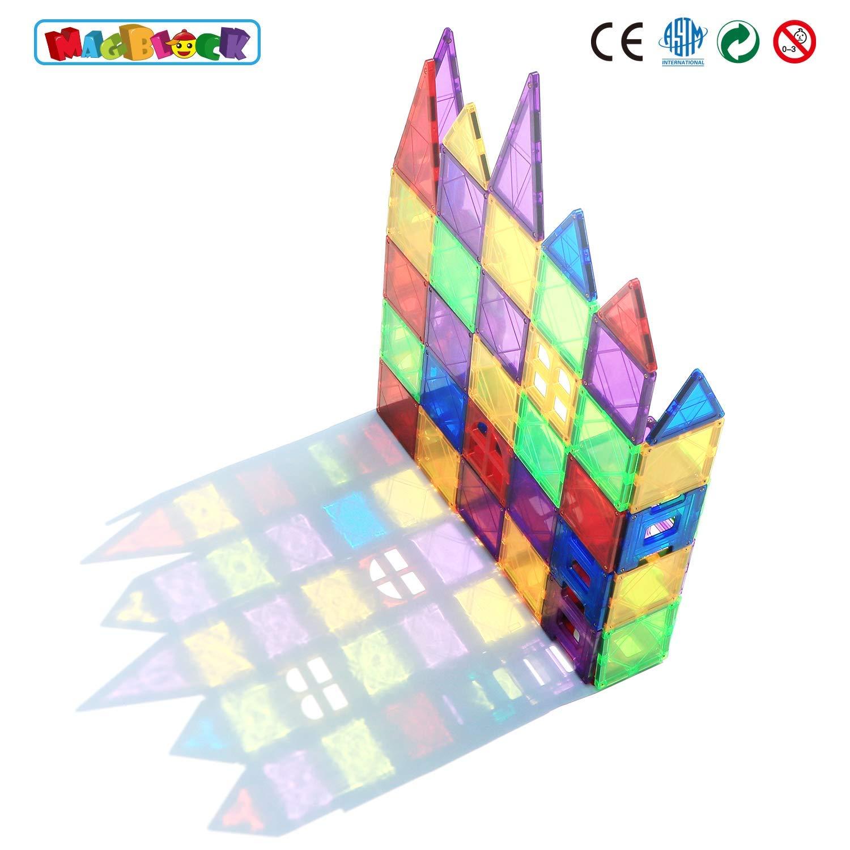 Magblock 66 PCS Magnetic Building Blocks, Magnetic Tiles for Kids Toys丨Magnet Toys Set 3D Building Blocks for Toddler Boys and Girls by Magblock (Image #2)