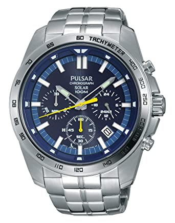 Pulsar Reloj Unisex de Analogico con Correa en Chapado en Acero Inoxidable PZ5001X1: Amazon.es: Relojes