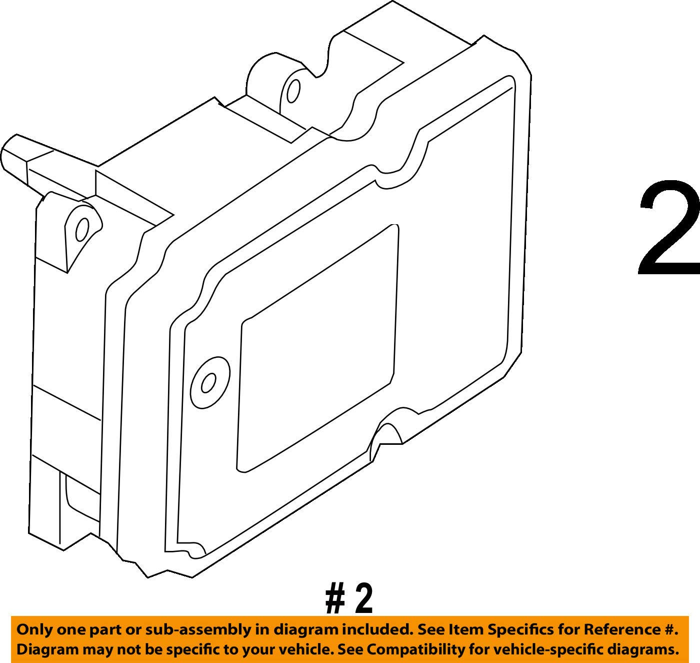 Ford DB5Z-2C219-B, ABS Control Module Unbranded DB5Z2C219B
