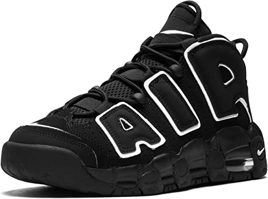 Scarpe nike air more uptempo black white gs - 415082-002 - size 7 - 415082 002