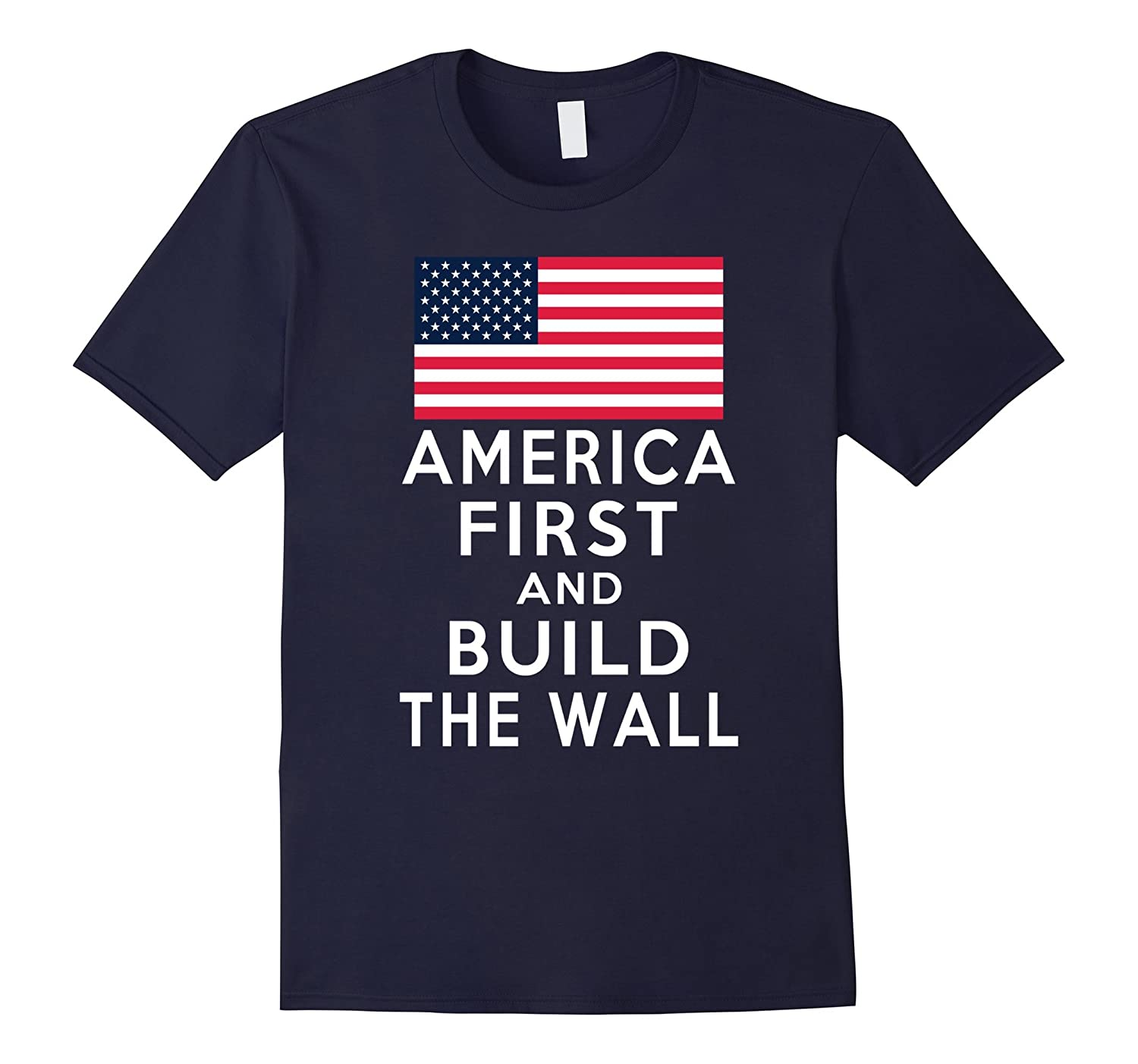 America Number One Again and Build a Wall Tshirt-TD