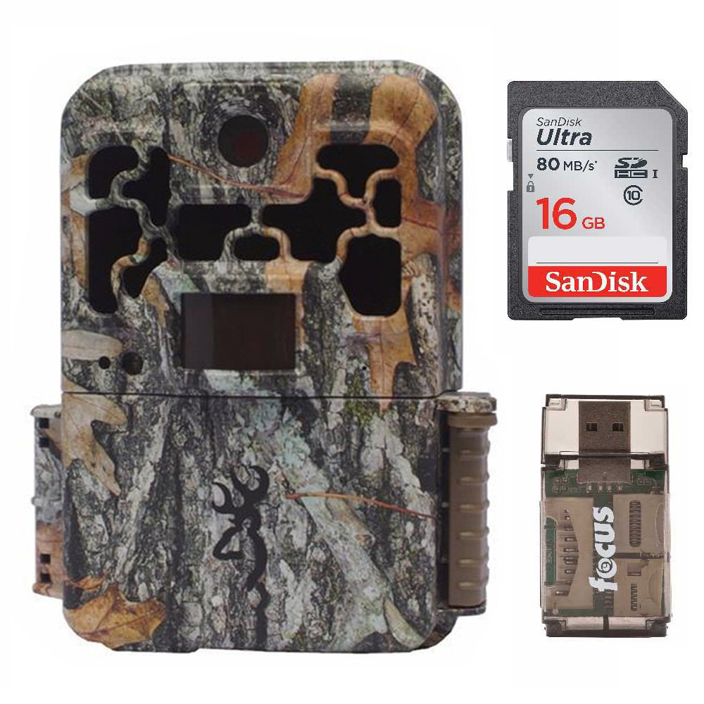 Browning Spec Ops Advantage 20MP Trail Camera w. Color Display + 16GB SD Card + Focus USB Reader