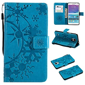 Amazon com: CUSKING Galaxy Note 4 Leather Wallet Case with