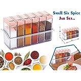 Darkpyro Plastic Spice Rack Set, 7-Pieces, Multicolour