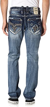 Amazon Com Rock Revival Vietia A204 Alt Cort Jeans Cintura 38 Longitud 34 Clothing