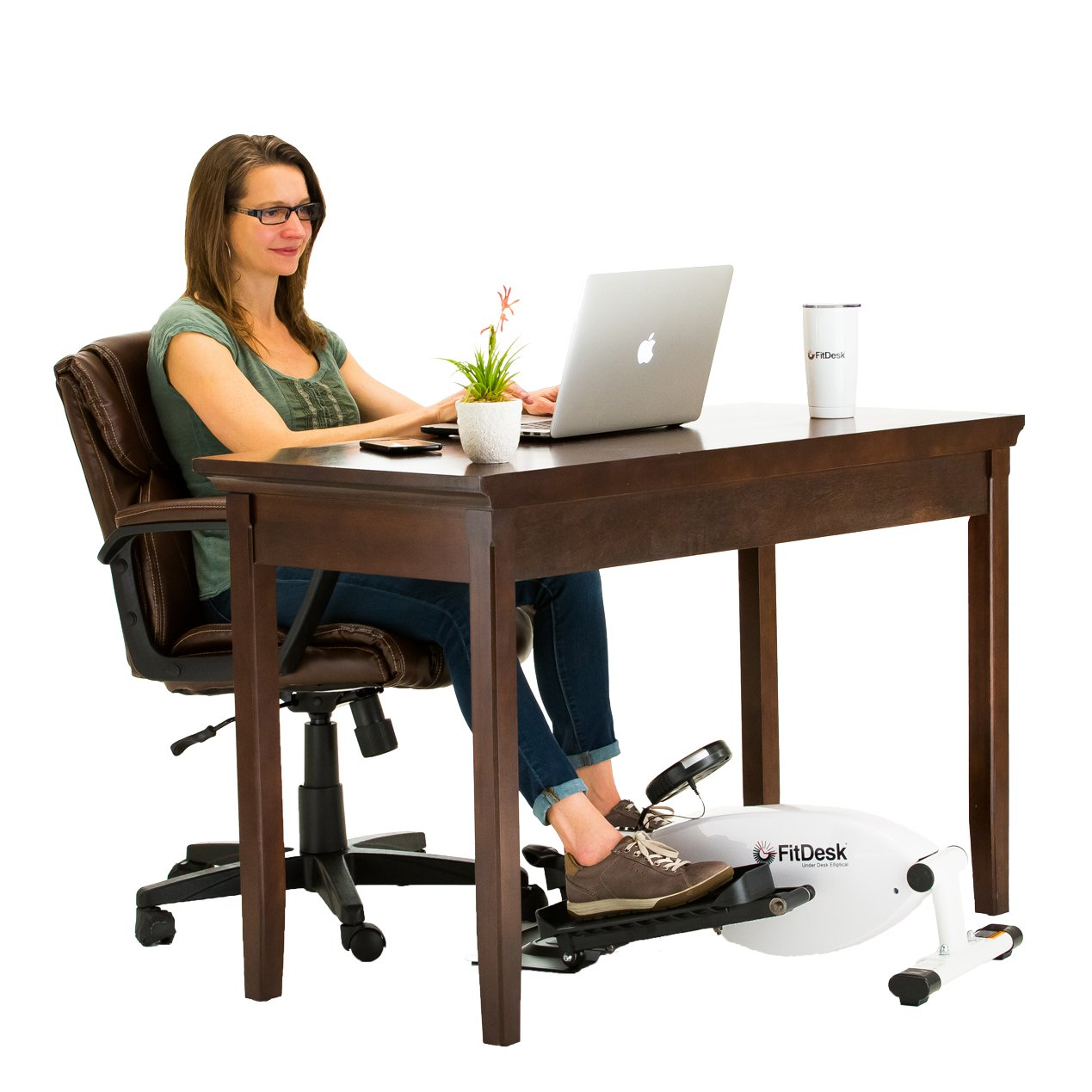 3040 FitDesk Under Desk Elliptical White FD Products Inc