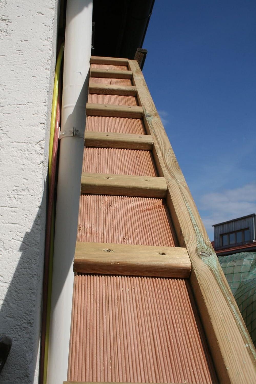1 meter katzenleiter katzentreppe f r balkon katzenm bel mit haken douglasie 3101a mwd. Black Bedroom Furniture Sets. Home Design Ideas